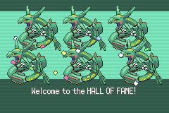 Pokemon Emerald - Ending  - Army Of Raquazas! - User Screenshot